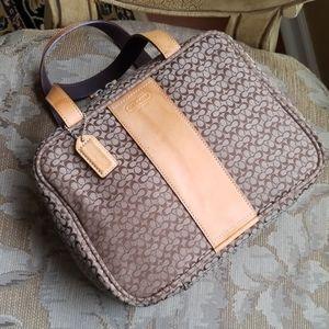 Authentic coach travel organizer bag